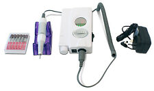 Portable Cordless Electric Nail Drill Salon Podiatry 5 hrs run time - White