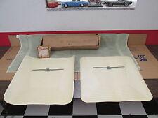1963-64 FORD THUNDERBIRD ( WHITE )  REAR FLOOR MATS  NICE  NOS FORD 117
