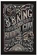 Blues Masters: BB King & Buddy Guy at Hollywood Concert Poster 2010