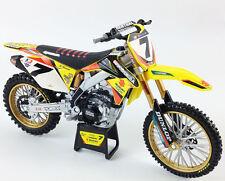 James Stewart Yoshimura RMZ450 1:12 Die-Cast Motocross Mx Toy Model Bike New Ray