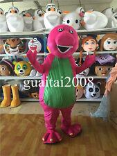 High Quality Barney Dinosaur Mascot Costume Cartoon Party Fancy Dress Halloween