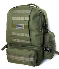 Military Molle Assault Tactical Backpack OLIVE Large Rucksack Backpack RT 508