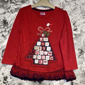 Girls Age 4-5 Years - Christmas Tunic Top