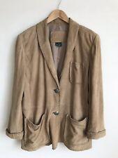 Lauren Ralph Lauren Women's Oversized Western Suede Blazer Jacket Sz Medium