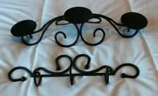 Southern Living at Home set of triple swirly candle holder and 3 hook hanger iro