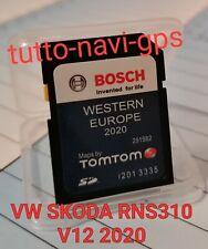 SD MAPPE VOLKSWAGEN SKODA SEAT SISTEMA RNS310 V12 2020-21 BOSCH (By TOM TOM)....