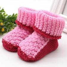 Infantil Bebé recién nacido punto lana ganchillo Zapatos HEBILLA Artesanía