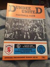 Dundee Teams C-E Football European Club Fixture Programmes