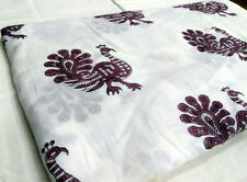5 Yards Indian Hand Made Hand Block Print 100% Cotton Fabric Jaipur Peacock SSTH