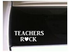 """Teachers Rock Car Decal Vinyl Sticker 6"""" K45 Teacher Teach Gift Teachers"""
