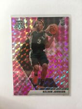 Keldon Johnson 2019-20 Mosaic Pink Camo Prizm RC Spurs