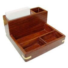 Maritime Zettel Stift und Utensilien Box - Teak & Messing - XXL - sc-9291