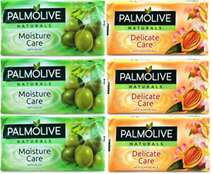 12x PALMOLIVE SOAP NATURALS MOISTURE / DELICATE CARE HAND WASH FACE BAR 90g