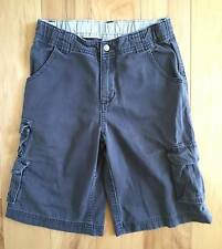 EUC BOY GYMBOREE JUNGLE PRESERVE GRAY CANVAS CARGO SHORTS 7