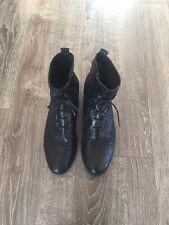 Jones Bootmaker Size 7 (EU 41) Black Ankle Leather Boots. Excellent Condition