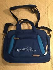 """HydroPeptide Blue Expandable Tote Cosmetic Bag 14"""" x 10"""" x 8"""""""