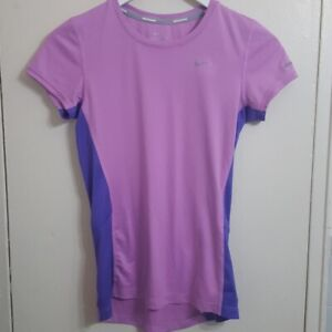 Women's Nike Dri-Fit Pink Purple Athletic T-shirt Size XS Work out