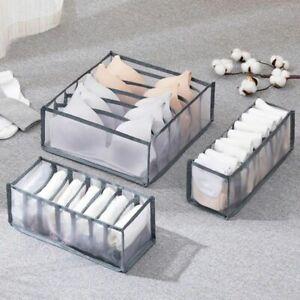 Underwear Storage Organizer Drawer For Foldable Wardrobe Separated Box Container