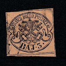 FRANCOBOLLI 1852 STATO PONTIFICIO 3 BAJ Z/7413