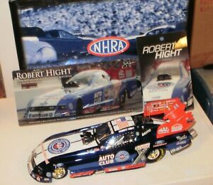 NHRA 1/24 ROBERT HIGHT 2008 AAA COLOR CHROME MUSTANG SIGNED F/C 1/60 #28