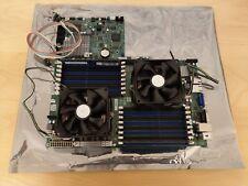 Super Micro H8DGU-F, G34, Motherboard + Dual Opteron 6276 CPU's + Heatsink & Fan