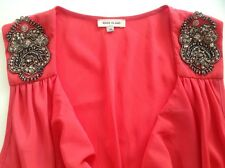 *RIVER ISLAND* Coral Summer Beaded Dress Size 10 Next Day Post