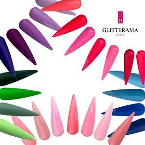 Glitterama Coloured Acrylic Powder Clear Pink Glitter Shimmer Black Purple Red