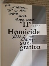 Sue Grafton, H IS FOR HOMICIDE *SIGNED & INSCRIBED* 1991 HBDJ 1ST/1ST (010CC)