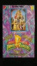 1994 Collect-A-Card Power Rangers Series 2 Factory Sealed Jumbo Box 24 Packs