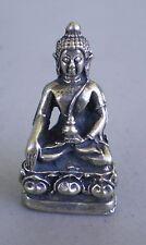 "Small Metal Alloy Shakyamuni Buddha Statue for Dharma in Nepal, Tibet 1 1/4"""