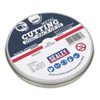 PTC11510CET Sealey Cutting Disc 115 x 1.2mm 22mm Bore Pack of 10 [Cutting Discs]