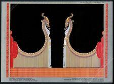 1984 Erte art deco Aladdin and his Bride color art Kane vintage print ad