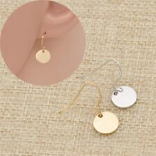 Ohrhänger Kreis Rund  1 Paar Damen Modeschmuck Ohrringe Geschenk Golden Silber