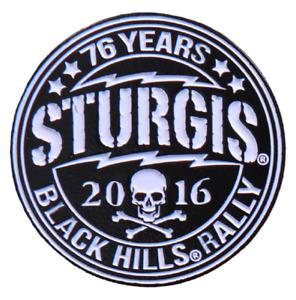 Official Sturgis 2016 Circle Logo Enamel Motorcycle Hat Lapel Pin