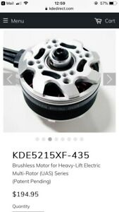 KDE5215XF-435 Brushless Motor for Heavy-Lift Electric Multi-Rotor (UAS) Series