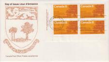 Canada #618 8¢ Prince Edward Island Centennial LL Plate Block First Day Cover