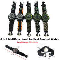 5 in 1 Multifunctional Tactical Watch Outdoor Camping Travel Luminou Hands Watch