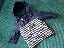 6-9 months girl blue raincoat with warmer from mini club