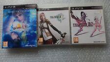 Final FANTASY X/X-2 HD edición limitada PS3, Final Fantasy XIII - 2 PS3 y XIII PS3