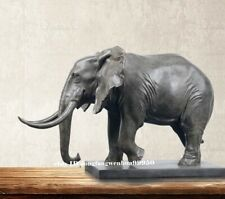 Chinese Copper Bronze FengShui Auspicious Fortune Animal Elephant Sculpture