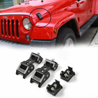Durable Car Accessories Locking Hood Catch Latches For Jeep Wrangler JK JL 07-19