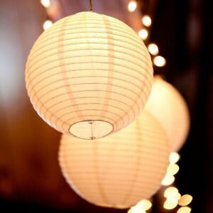 LED Lantern Lights Chinese Paper Ball Lampions For Wedding Party Decorations New