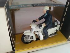 BRITAINS RARE POLICE PATROLMAN With Loud Hailer MOTORCYCLE *9697 Nr MINT BOXED