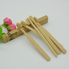5Pcs Natural Health Bamboo Wooden Soft Bristle Brush Eco Friendly Toothbrush