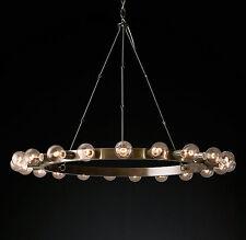 New 22 Light Industrial Rustic Stratton RH Chandelier Pendant
