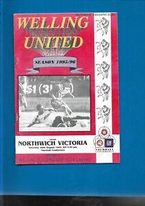 1995/6 Welling United v Northwich Victoria programme