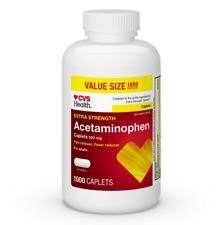 CVS Health Pain Relief Caplets Extra Strength Acetaminophen 500 mg, 1000 CT