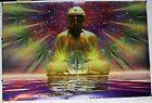 "Space Buddha Art by Ananda Kurt 1999 Poster 24.25"" X 36.50"" NOS (B759)"