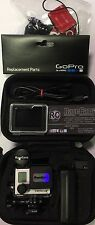 GOPRO HD HERO3+SILVER CAMERA HELMET CAM DIVE HOUSING PKG 16GB CARREY CASE CAPS