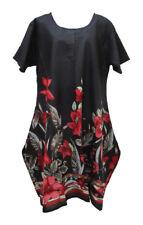 Hippie Lagenlook Tunic Top Dress Boho Beach Kaftan Size 18 20 22 24 26 28